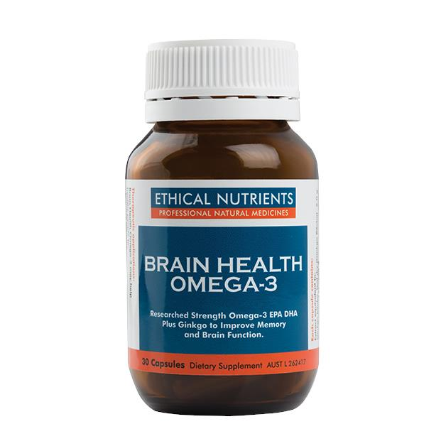 Ethical Nutrients Brain Health Omega-3 30 Capsules