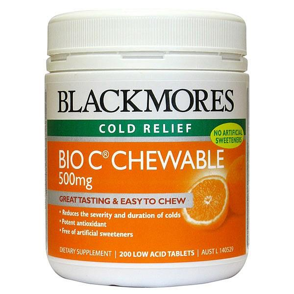 Blackmores Bio C Chewable 500mg 200 chewable tablets