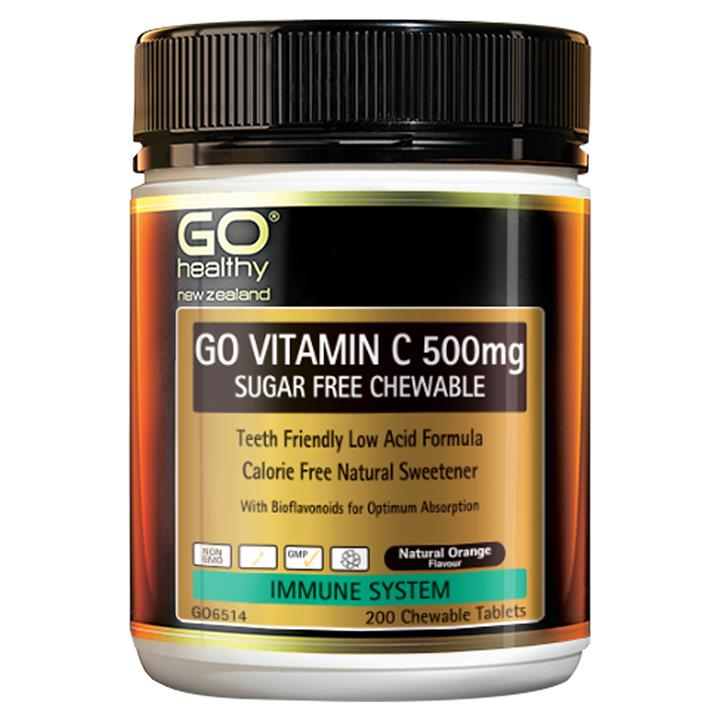 GO Healthy Go Vitamin C 500mg Sugar-Free Chewable 200 chewable tablets