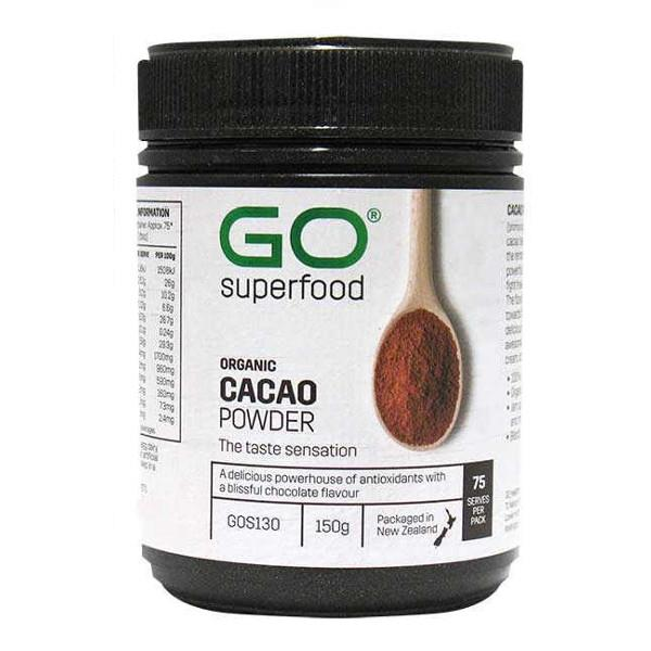 GO Healthy Go Cacao Powder Organic 150gm