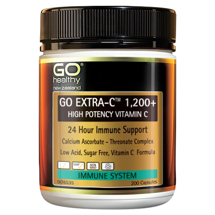 GO Healthy Go Extra-C 1200+ High Potency Vitamin C 50 capsules