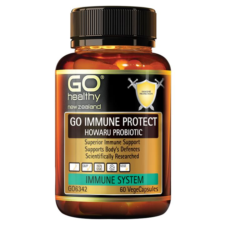 GO Healthy Go Immune Protect- Howaru Probiotic 60 vegecaps