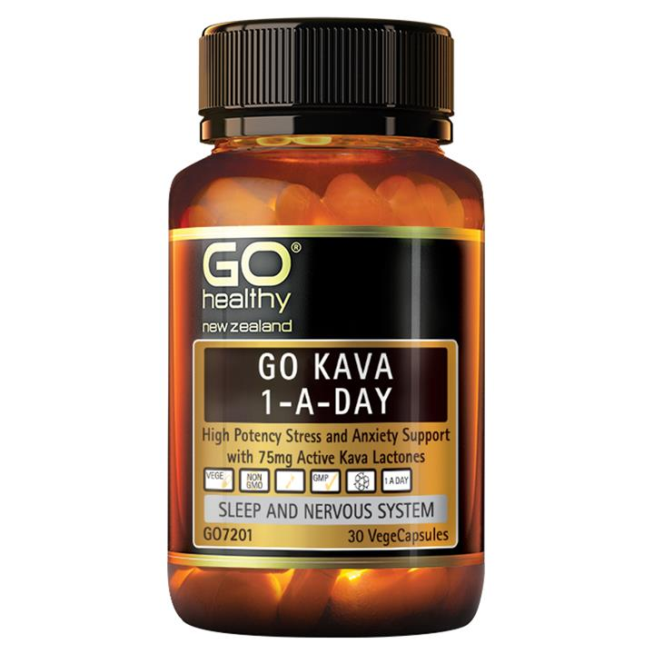 GO Healthy Go Kava 1-A-Day 30 vegecaps