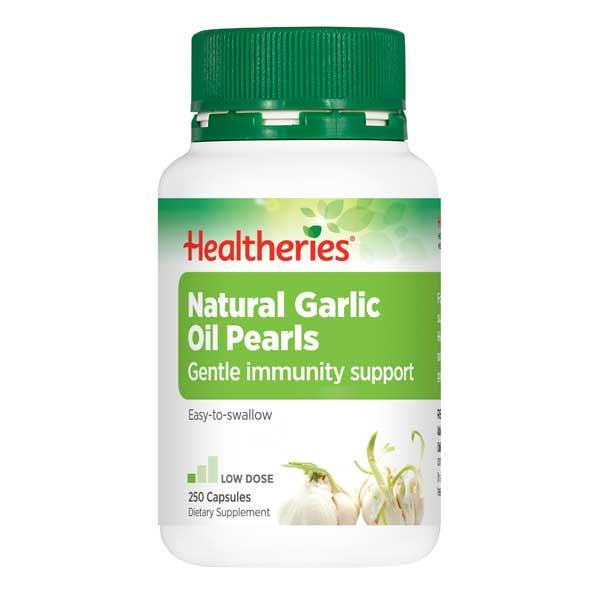 Healtheries Natural Garlic Oil Pearls 250 capsules