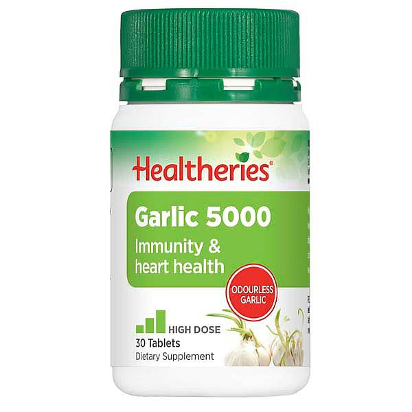 Healtheries Odourless Garlic 5000mg 30 tablets