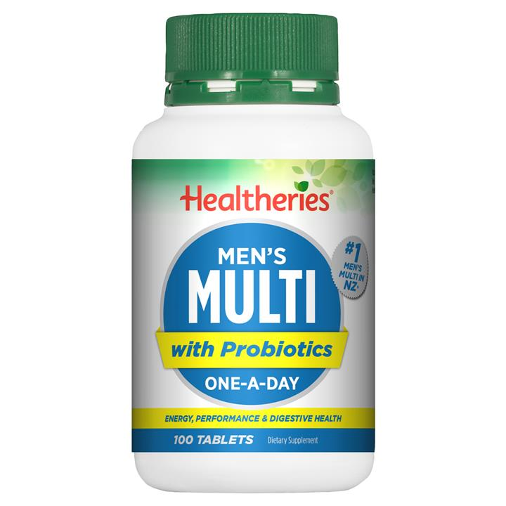 Healtheries Men's Multi - Energy & Performance 100 tablets