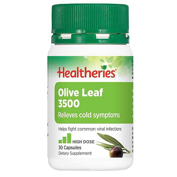 Healtheries Olive Leaf 3500 30 vegecaps