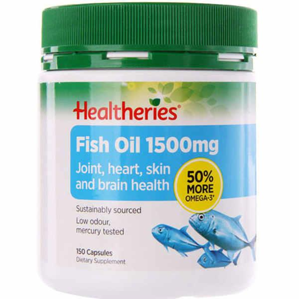 Healtheries Omega 3 Fish Oil 1500mg 150 capsules