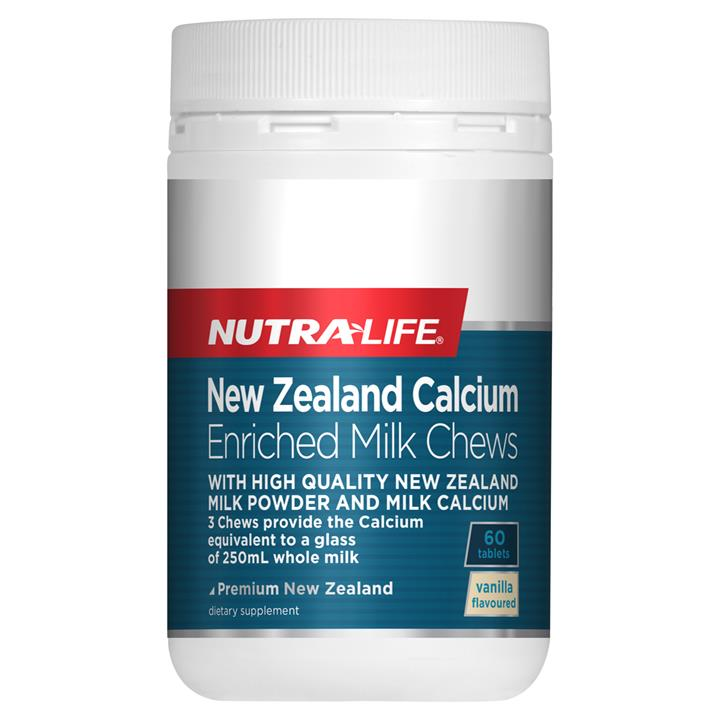 Nutra-Life Calcium Enriched Milk Chews 60 chewable tablets