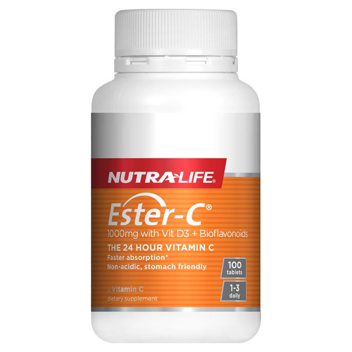 Nutra-Life Ester C 1000mg with Vitamin D3 + Bioflavonoids 100 tablets