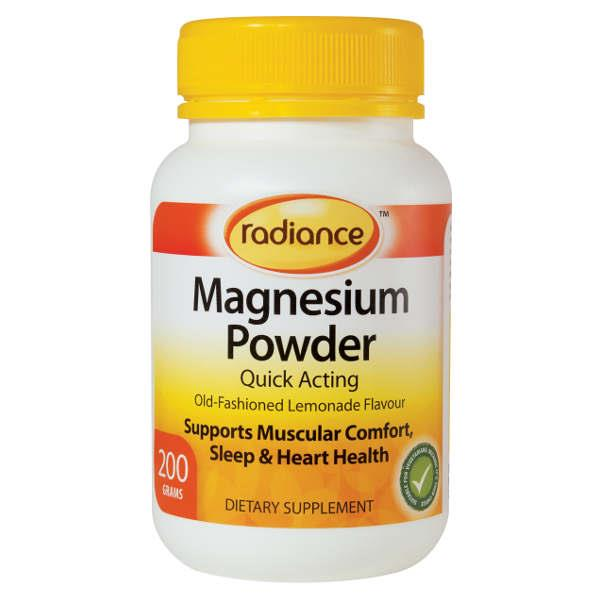 Radiance Magnesium Powder 200gm Lemonade Flavour