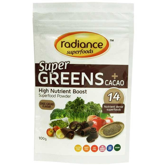 Radiance Super Greens plus Cacao 100gm