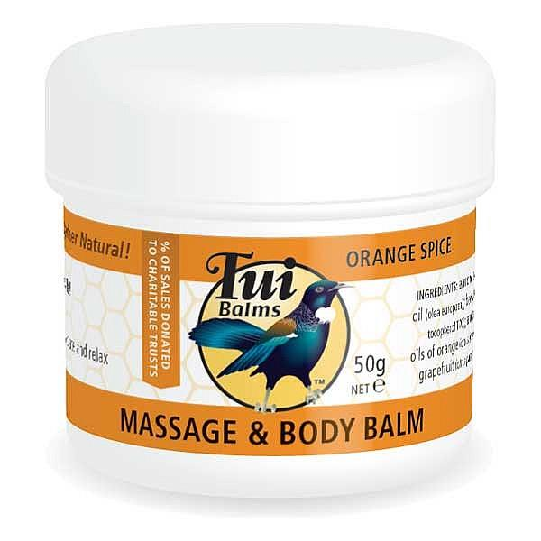 Tui Balms Massage & Body Balm – Orange Spice 50gm