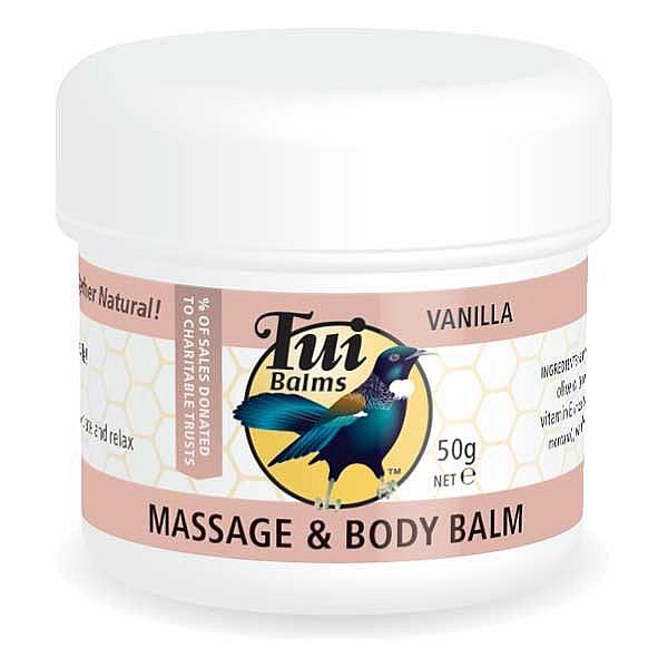 Tui Balms Massage & Body Balm – Vanilla 500gm