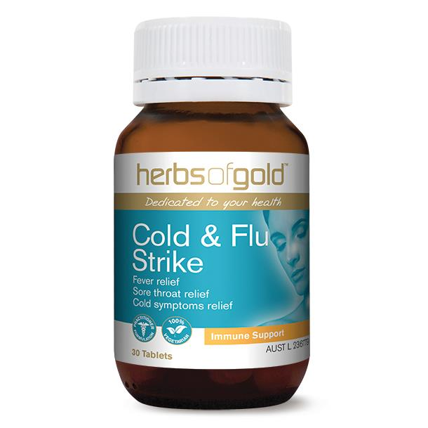 Herbs Of Gold Cold & Flu Strike 30 Tablets