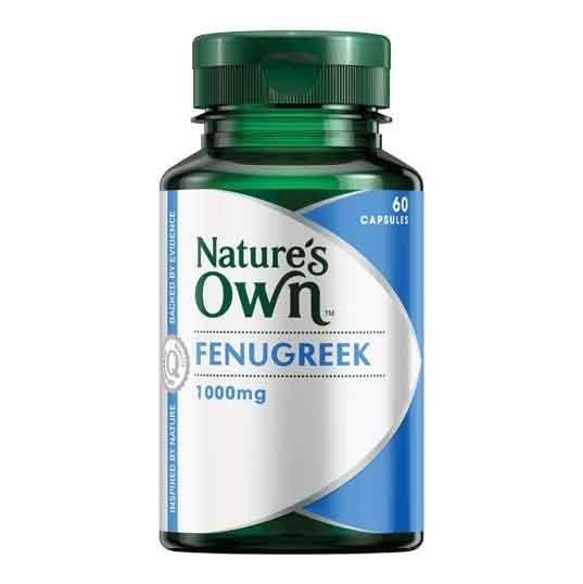 Fenugreek 1000mg 60 Capsules – Natures Own