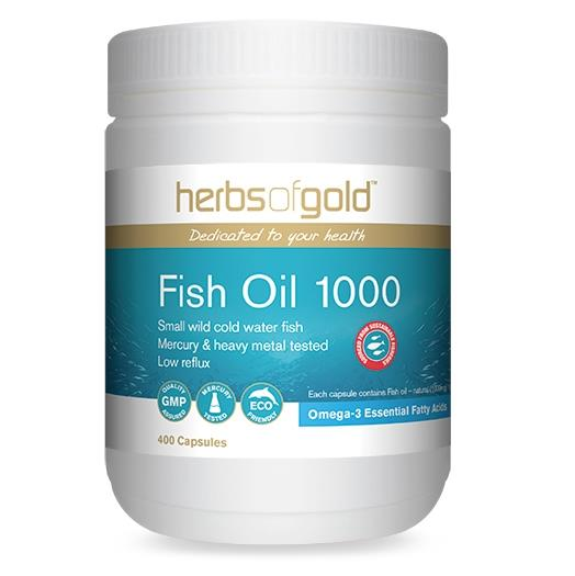 Herbs Of Gold Fish Oil 1000 400 Capsules