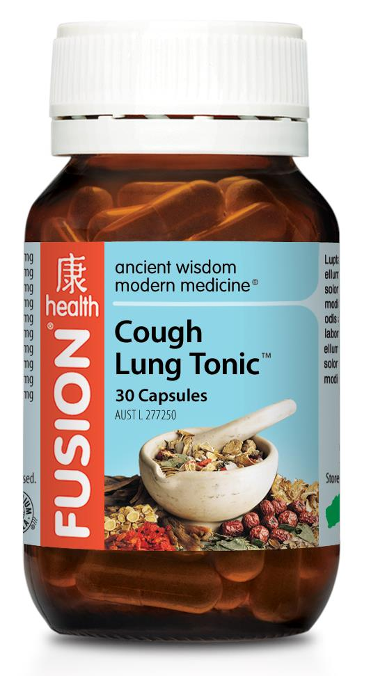 Fusion Health Cough Lung Tonic 30 Capsules