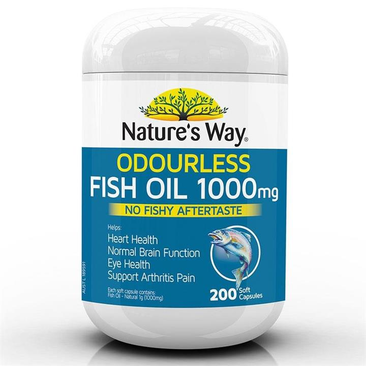 Fish Oil 1000 Odourless 200 Capsules – Natures Way