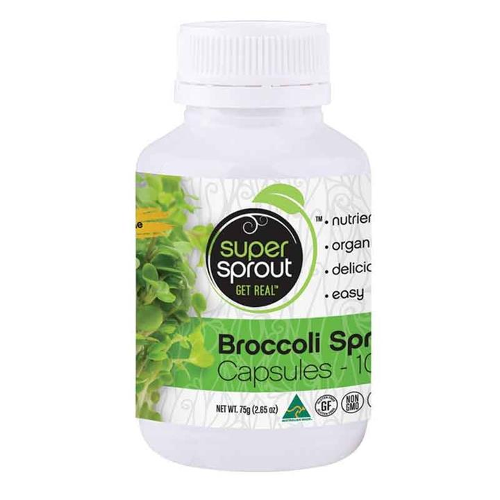 Broccoli Sprout Powder (Organic) 750mg 100 Capsules – Super Sprout