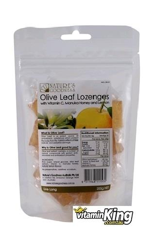 Olive Fruit Antioxidant Lozenges 200g Manuka Honey & Lemon – Natures Goodness