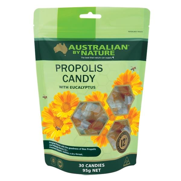 Australian By Nature Propolis Candies with Manuka Honey 12+ (MGO 400) 30 Serves