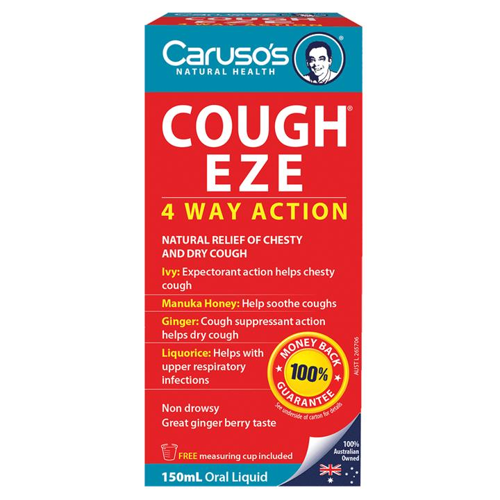 Carusos Natural Health Cough Eze 150ml