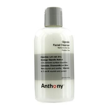 Anthony Logistics For Men Glycolic Facial Cleanser – For Normal/ Oily Skin 237ml/8oz Men's Skincare