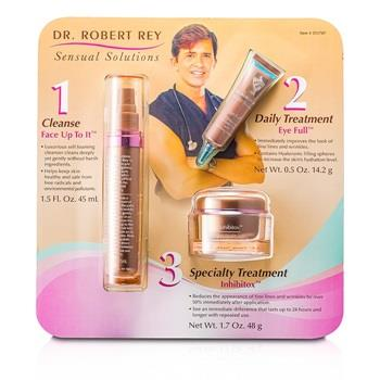 Dr Robert Rey Sensual Solutions Set: Cleanser 45ml + Wrinkle Filler 14.2g + Wrinkle Erase 48g 3pcs Skincare