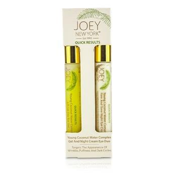 Joey New York Quick Results Young Coconut Water Complex Gel and Night Cream Eye Duo 2x14g/0.5oz Skincare