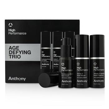 Anthony High Performance Age Defying Trio: Facial Treatment 15ml + Facial Serum 15ml + Eye Cream 15ml 3pcs Men's Skincare