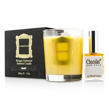 Il Profvmo Scented Candle - Chocolat (with Room Frangrance Spray 15ml/0.5oz) 200g/7oz Home Scent