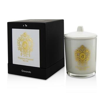 Tiziana Terenzi Glass Candle with Gold Decoration & Wooden Wick – Spicy Snow (White Glass) 170g/6oz Home Scent