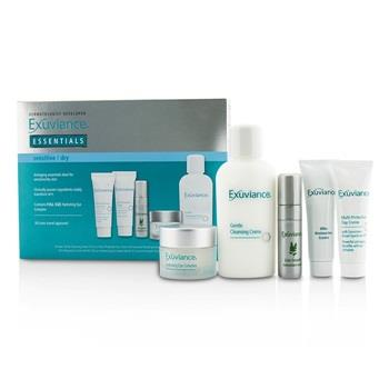 Exuviance Essentials Kit (Sensitive/ Dry): Cleansing Creme + Eye Complex + Day Creme + Restorative Creme + Antioxidant Serum 5pcs Skincare