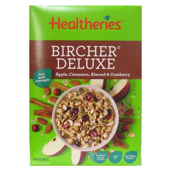 Healtheries Deluxe Bircher Muesli Apple, Cinnamon & Almond 420gm