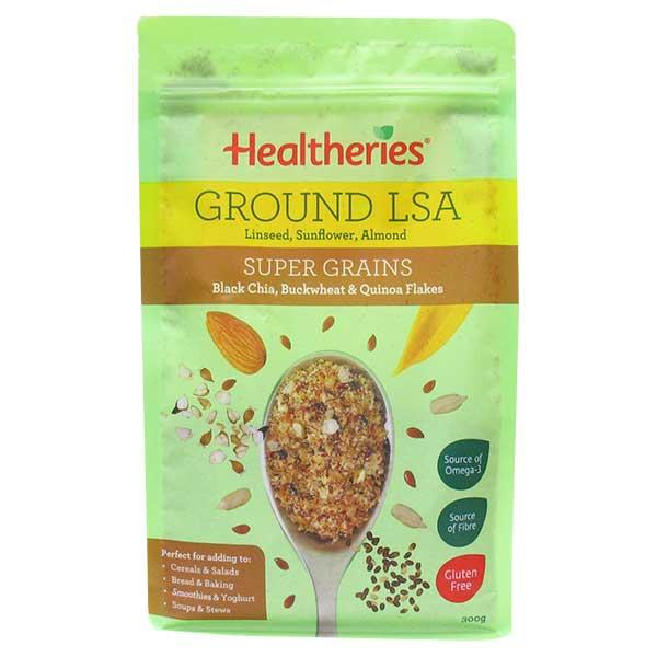 Healtheries LSA Ground (Linseed/Sunflower/Almond) Super Grains 300gm