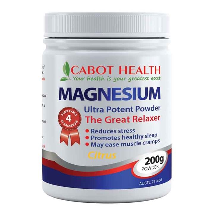 Cabot Health Magnesium Ultra Potent Powder 200g