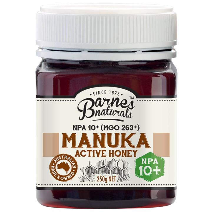 Barnes Naturals Active Manuka Honey 10+ 250g  (Not Available in WA)