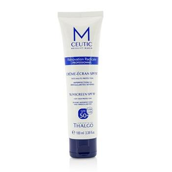 Thalgo MCEUTIC Sunscreen SPF 50+ UVA/UVB Very High Protection – Salon Size 100ml/3.38oz Skincare