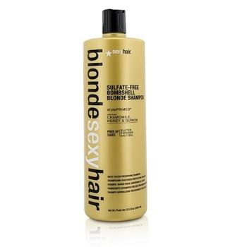 Sexy Hair Concepts Blonde Sexy Hair Sulfate-Free Bombshell Blonde Shampoo (Daily Color Preserving) 1000ml/33.8oz Hair Care