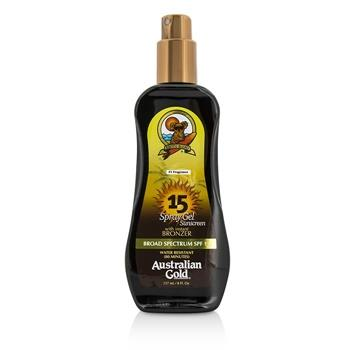Australian Gold Spray Gel Sunscreen Broad Spectrum SPF 15 with Instant Bronzer 237ml/8oz Skincare