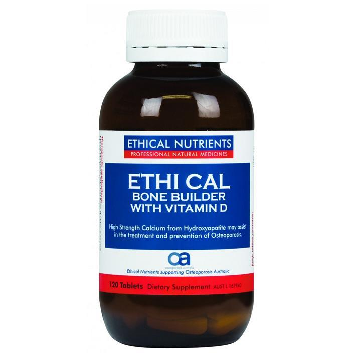 Ethical Nutrients Ethi Cal Bone Builder with Vitamin D – 120 Tablets