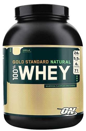 Natural 100% Whey Gold Standard 4.8lbs (2.18kg) Vanilla - Optimum Nutrition
