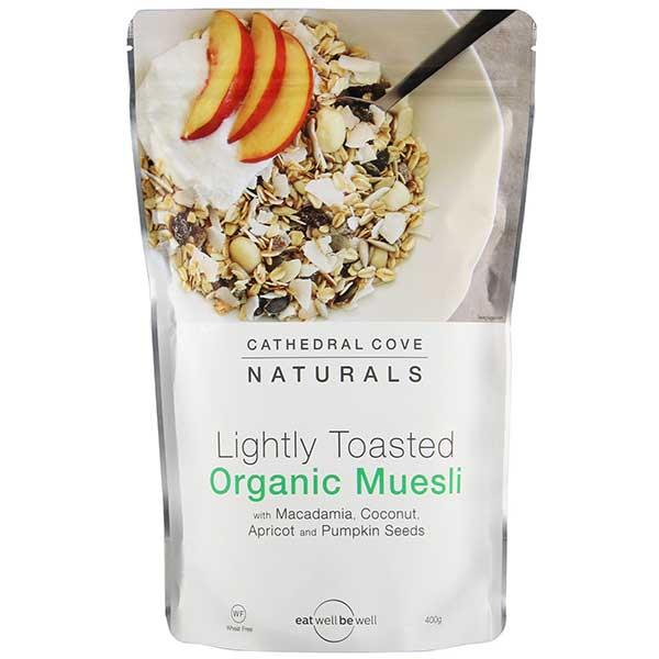 Cathedral Cove Naturals Lightly Toasted Organic Muesli 400gm