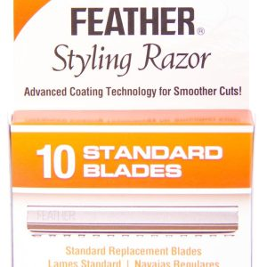 Feather Styling Standard blades with Built In Comb Guard 10pk