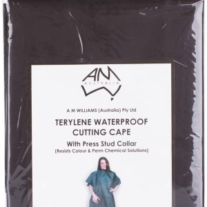 AMW Waterproof Tinting and Colouring Cape Stud Black Size 95cm x 135cm