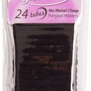 Gliders Tubes Ponytail Holders 24 piece