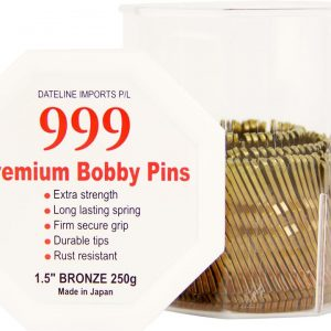 999 Bobby Pins 1 1/2″ Bronze 250g Tub