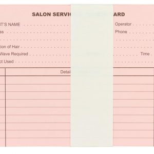 Hairdressing Record Cards 100 Pack