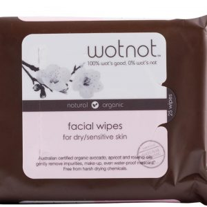 Wotnot Facial Wipes Dry/Sensitive Soft Pack 25s